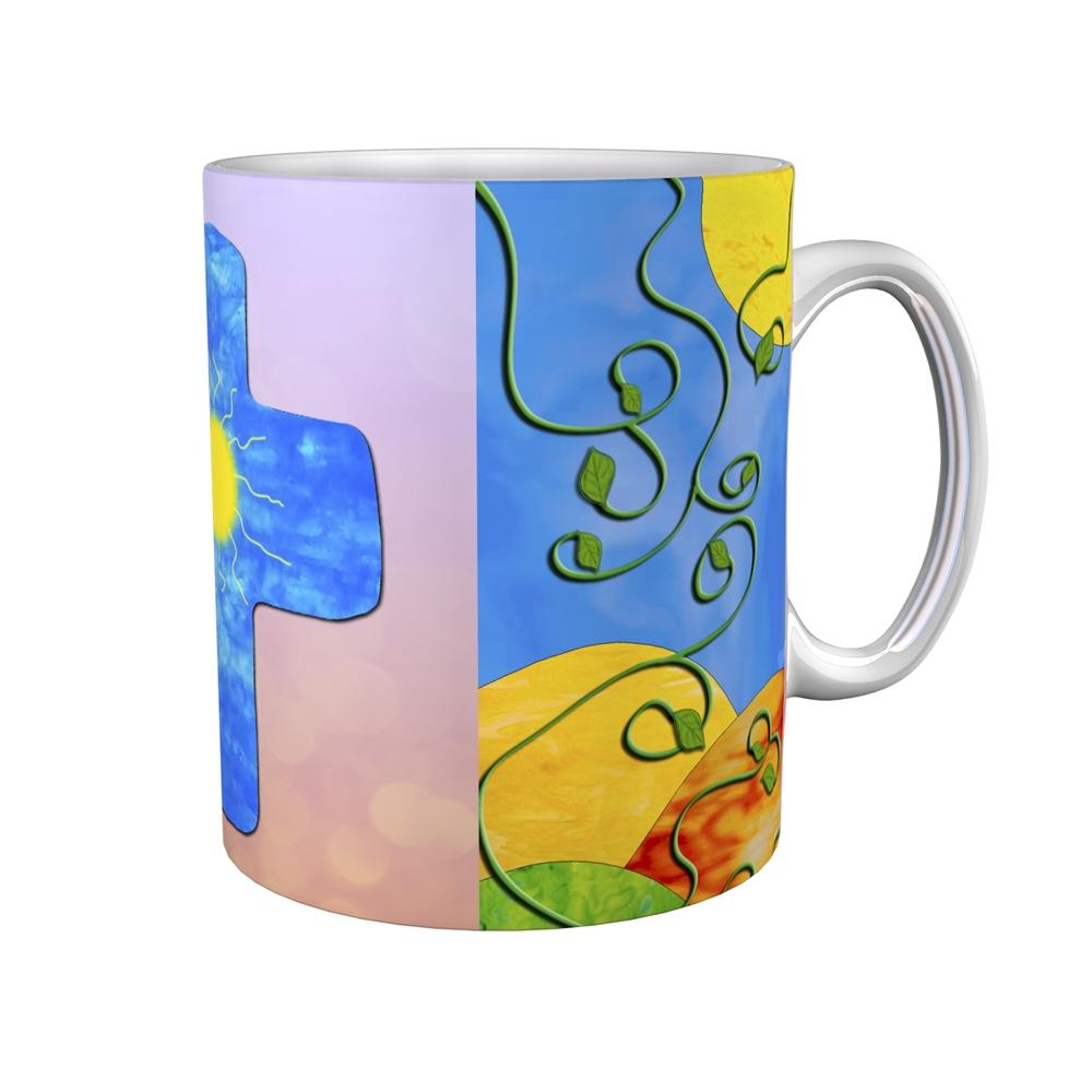 Kaffeetasse / Kaffeebecher / Kreuz / Sonne / Firmung