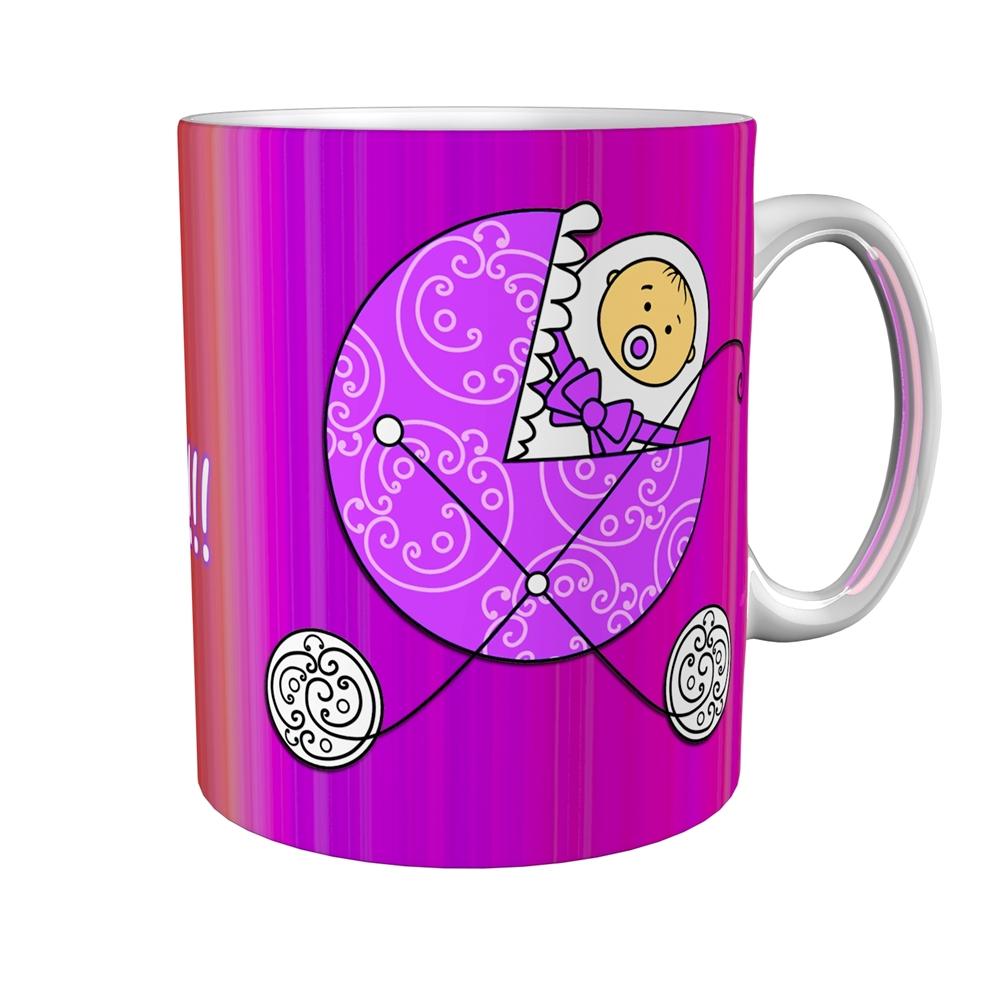Kaffeetasse / Kaffeebecher / Kinderwagen / Mädchen / Geschenktasse