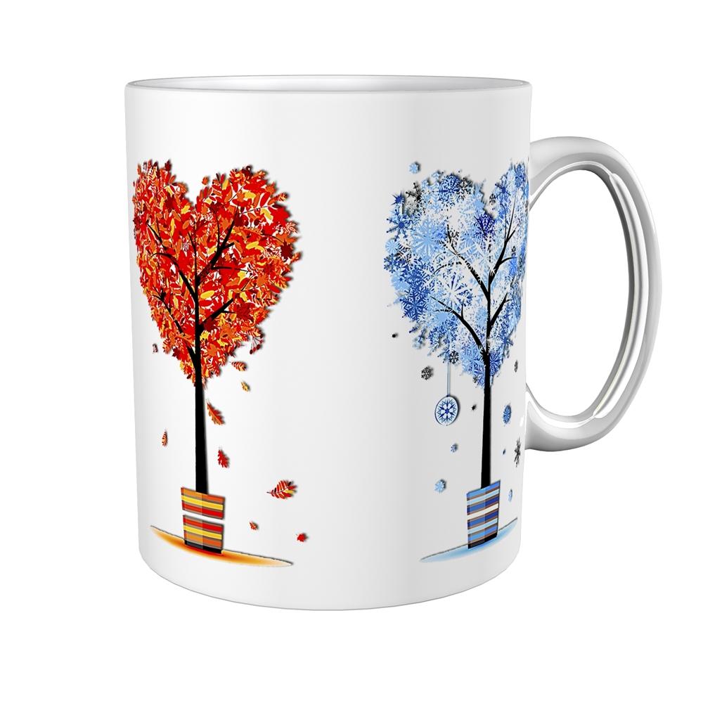 Kaffeetasse / Kaffeebecher / Bäume / Herzen / Geschenktasse