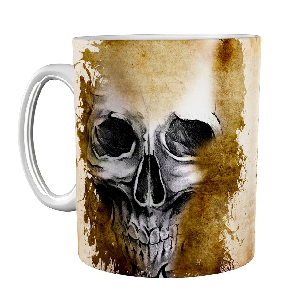Kaffeetasse / Kaffeebecher / Totenkopf / Geschenktasse