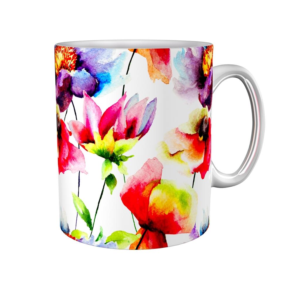 Kaffeetasse / Kaffeebecher / Blumen / Geschenktasse
