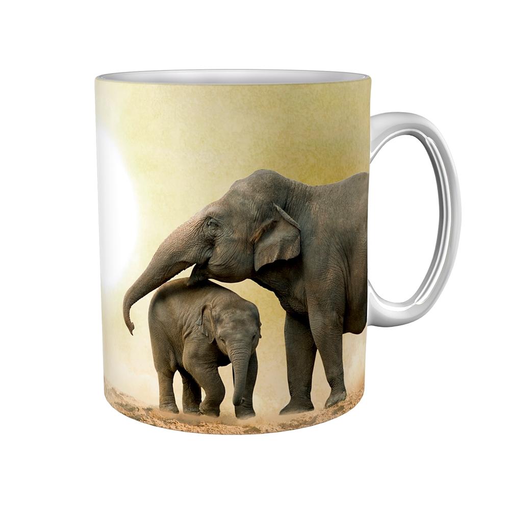 Kaffeetasse / Kaffeebecher / Elefanten / Geschenktasse
