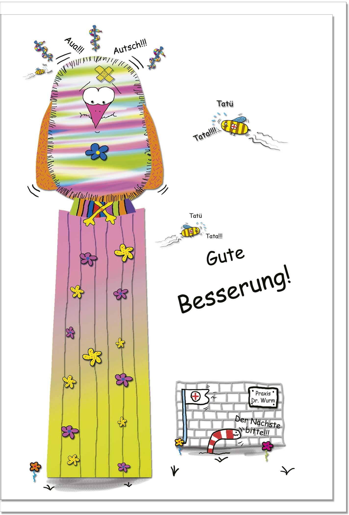 Genesungskarten / Grußkarten /Genesung Vogel