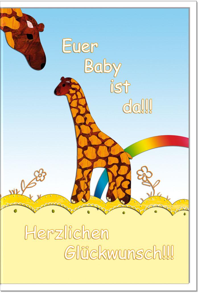 Geburtskarten / Grußkarten /Geburt Wiege