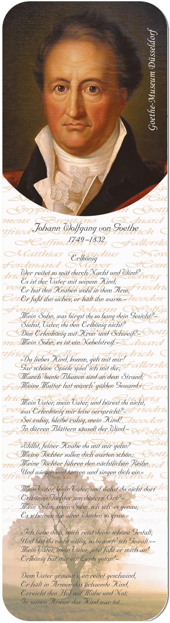 """Metall - Lesezeichen  """"Johann Wolfgang von Goethe"""""""