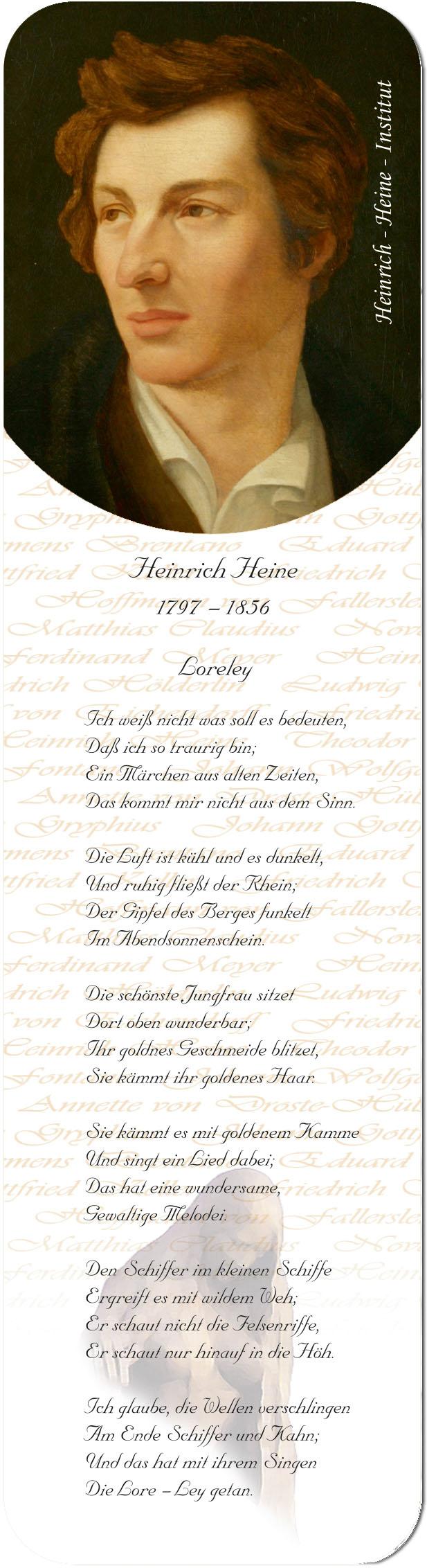 """Metall - Lesezeichen  """"Heinrich Heine"""""""