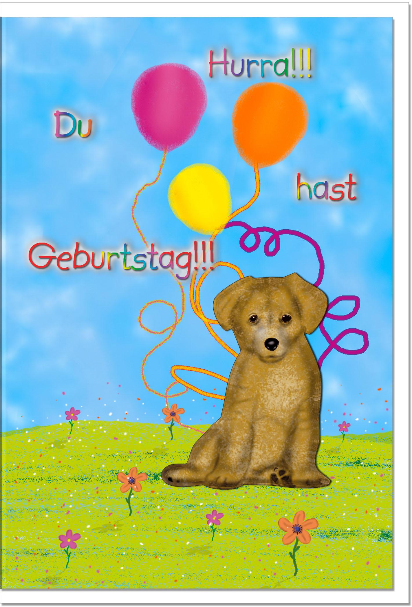 Geburtstagskarten Grusskarten Geburtstag Hund Geschenkideen Und