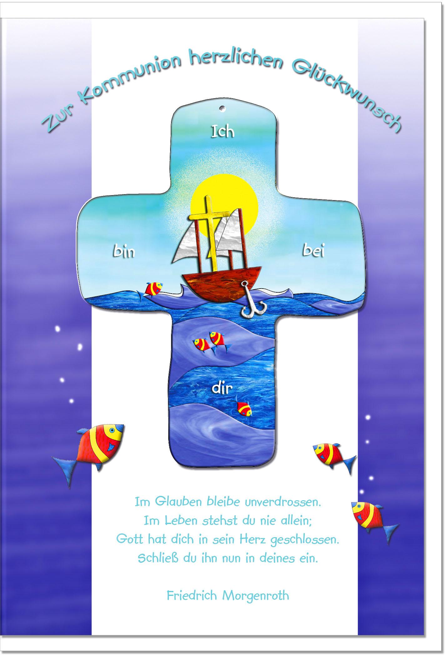 Kommunionskarten / Grußkarten /Kommunion Schiff