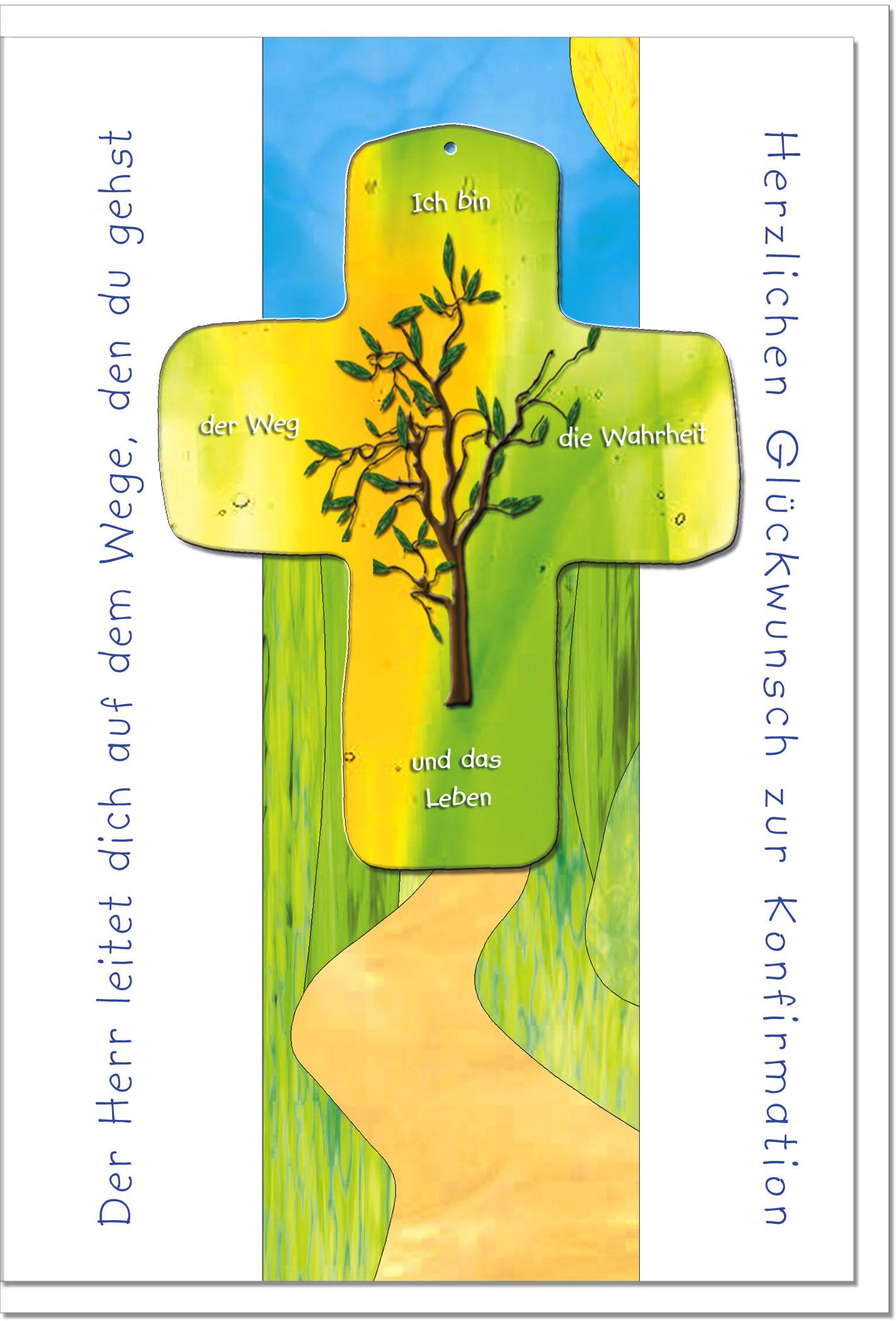 Konfirmationskarten / Grußkarten /Konfirmation Baum