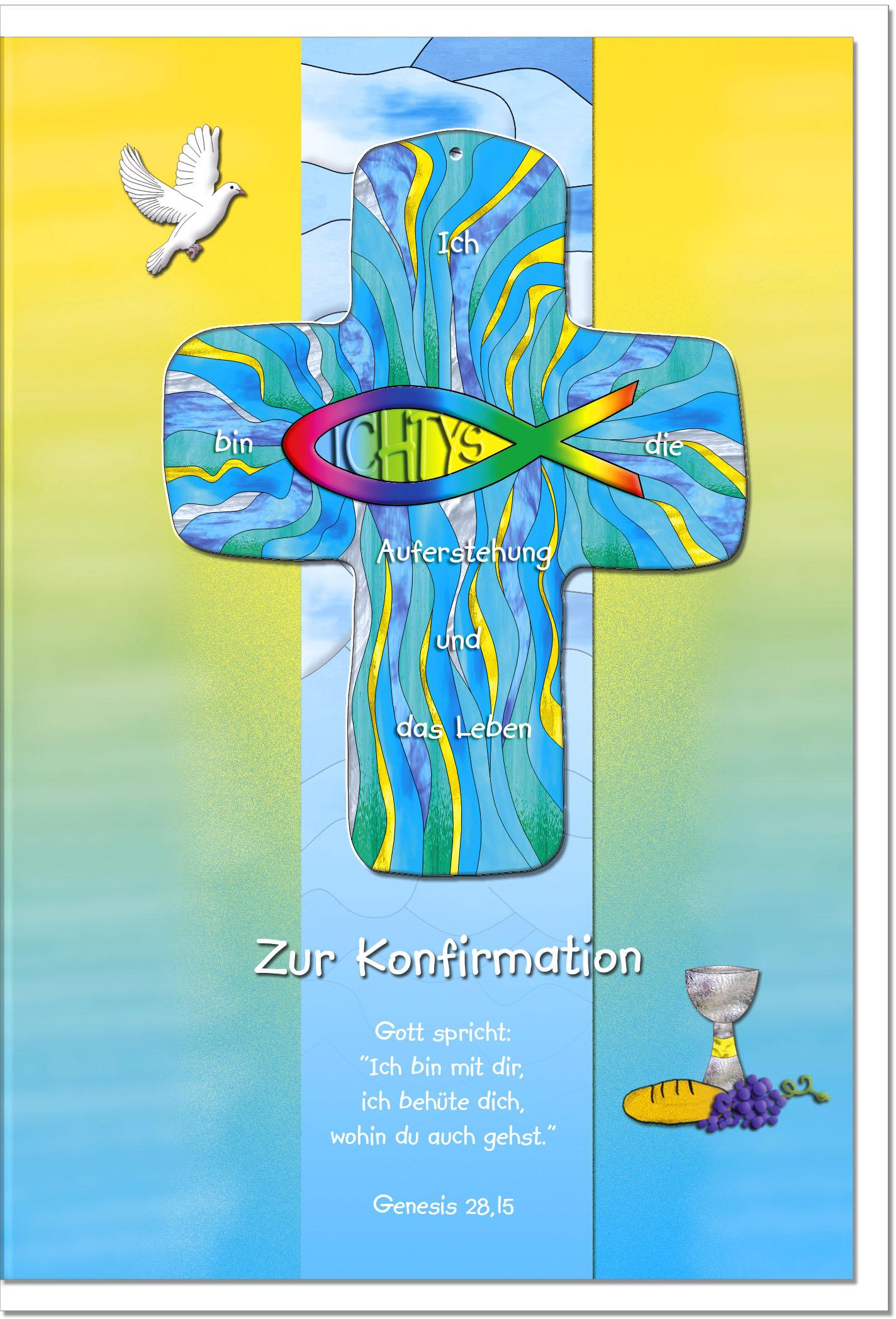 Konfirmationskarten / Grußkarten /Konfirmation Ichtys