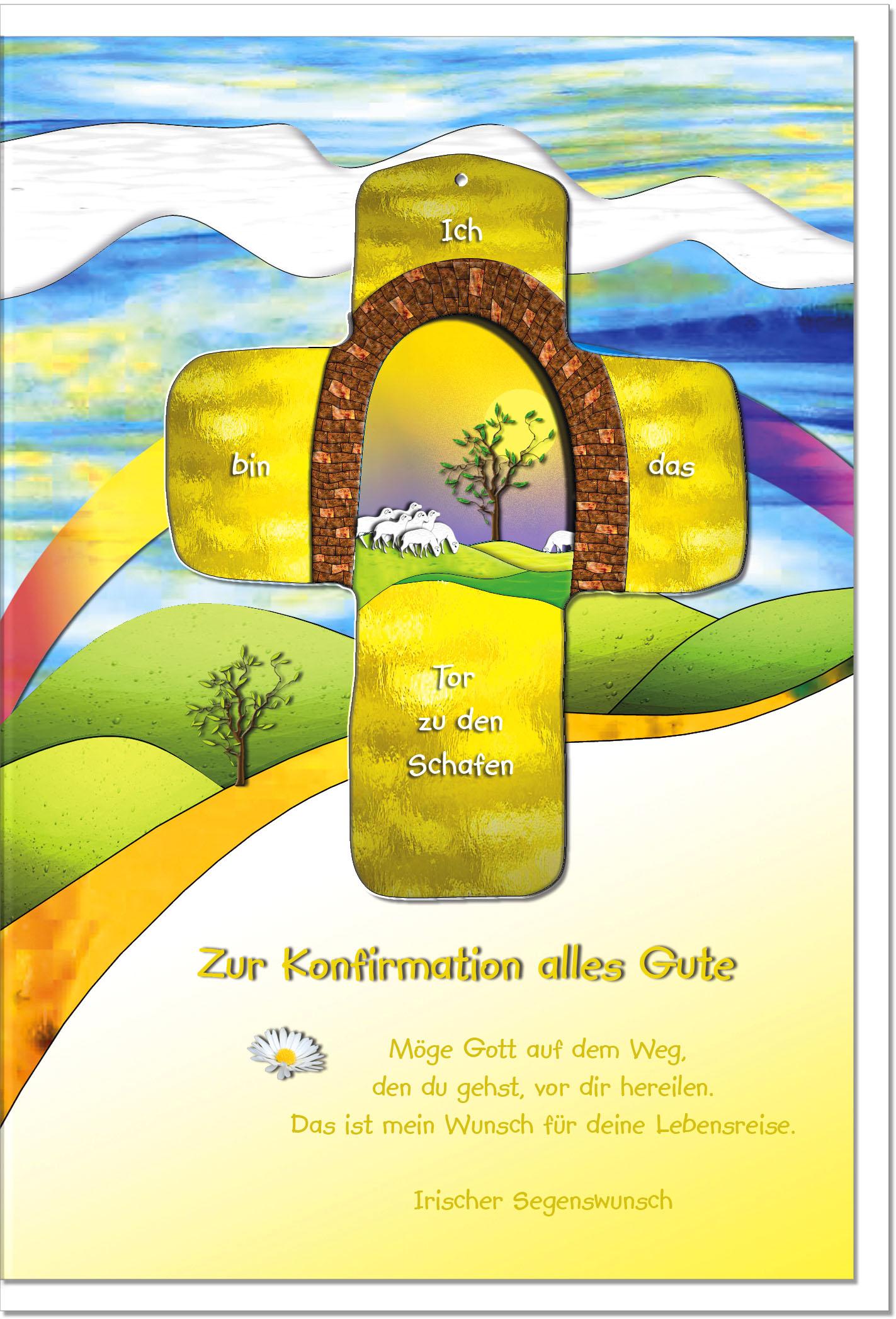 Konfirmationskarten / Grußkarten /Konfirmation Schafe