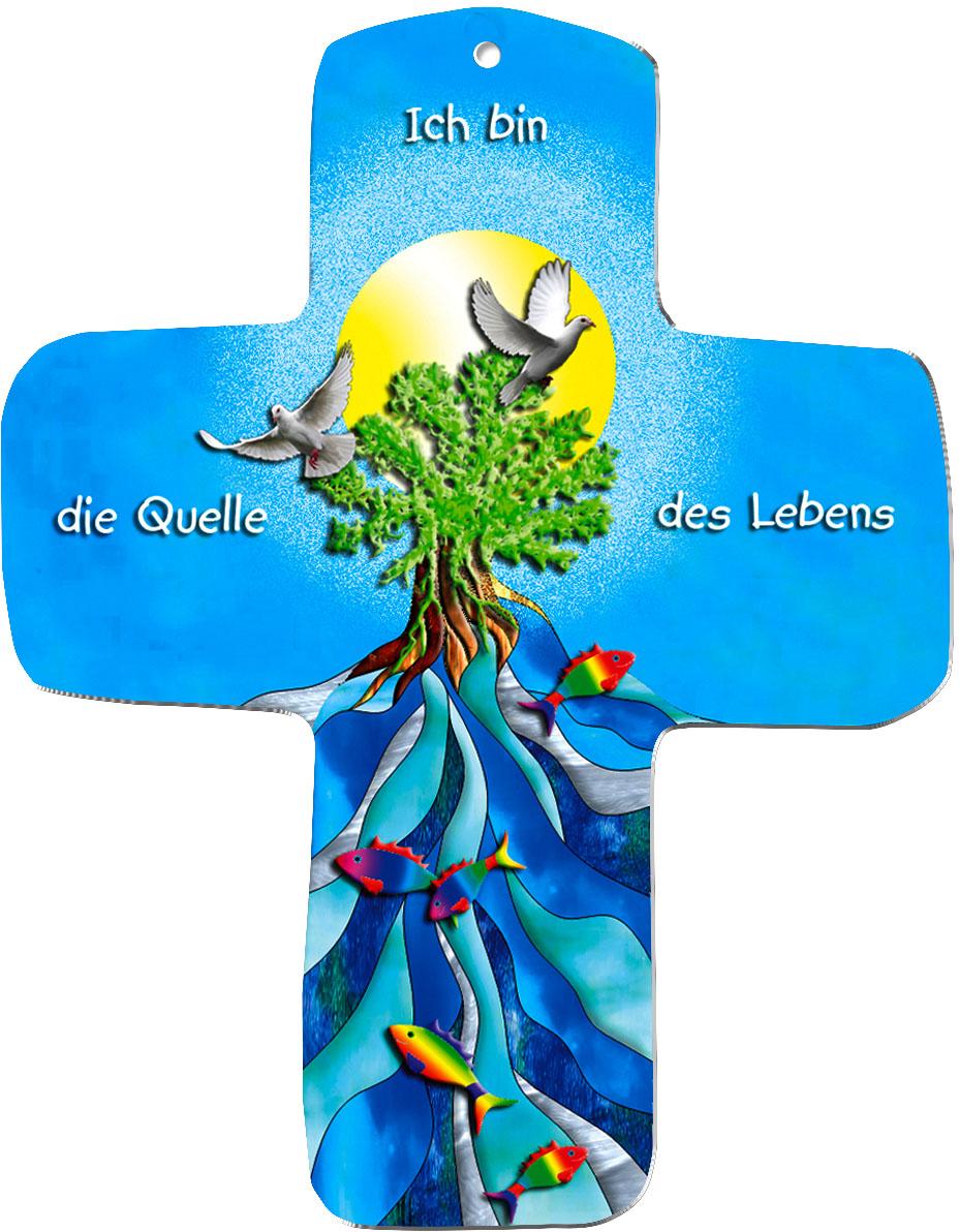 """metALUm Wandkreuze """"Quelle des Lebens"""""""