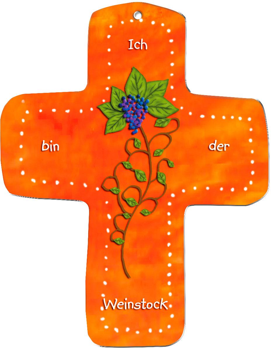 """metALUm Wandkreuze """"Weinstock"""""""