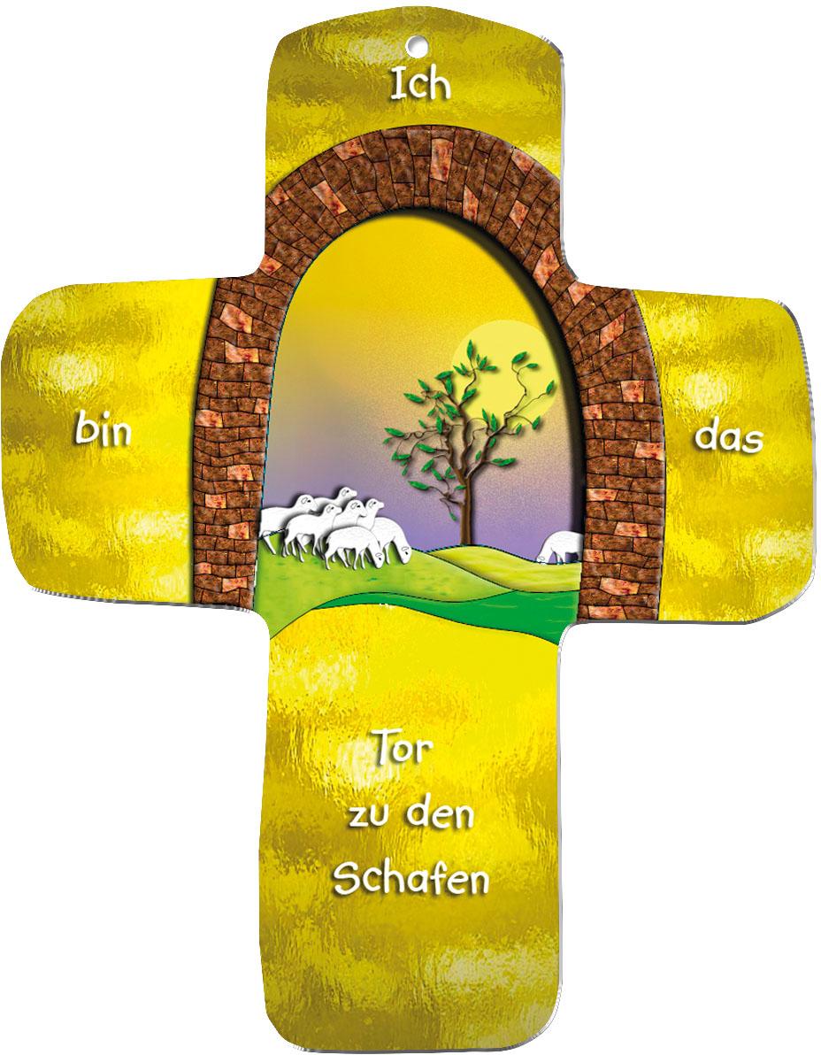 """metALUm Wandkreuze """"Schafe"""""""