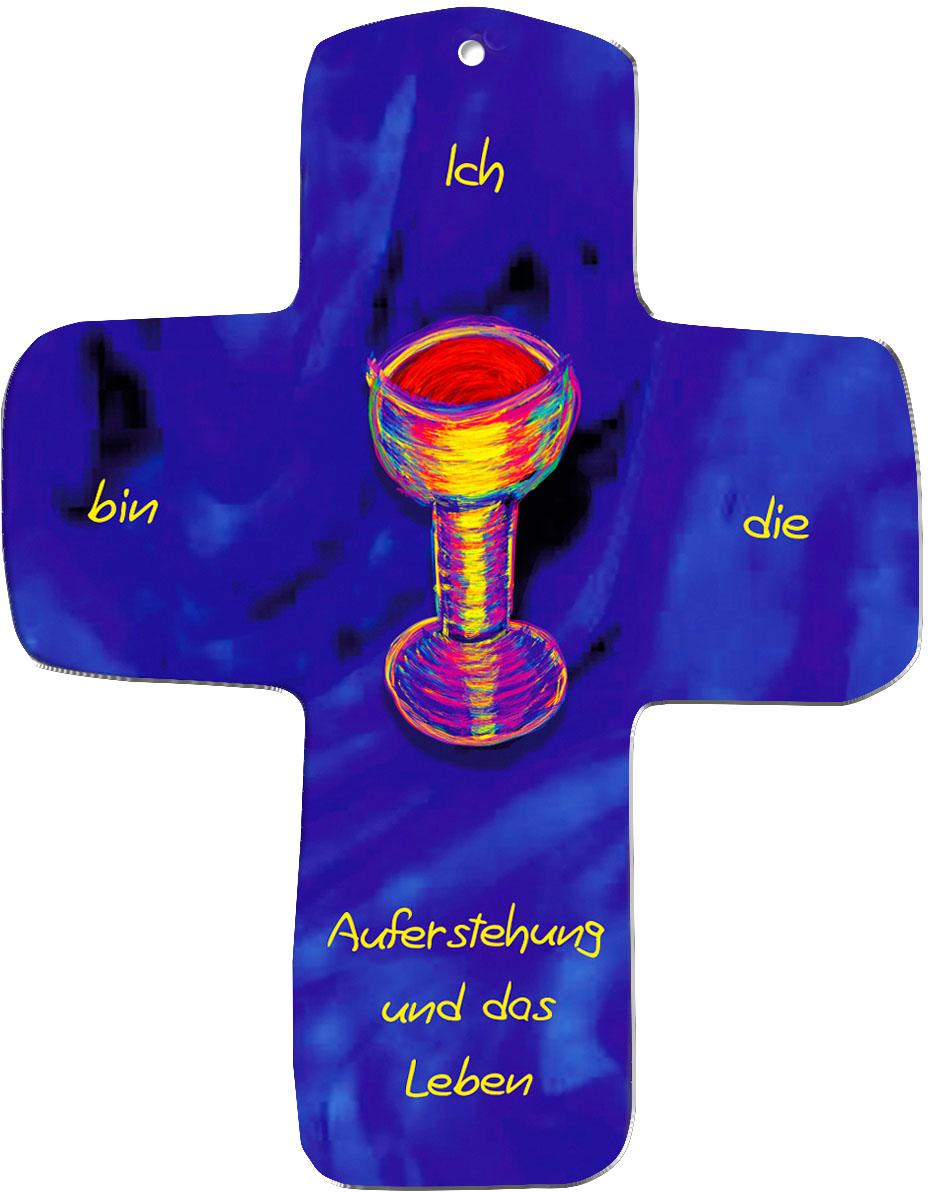 """metALUm Wandkreuze """"Weinkelch"""""""
