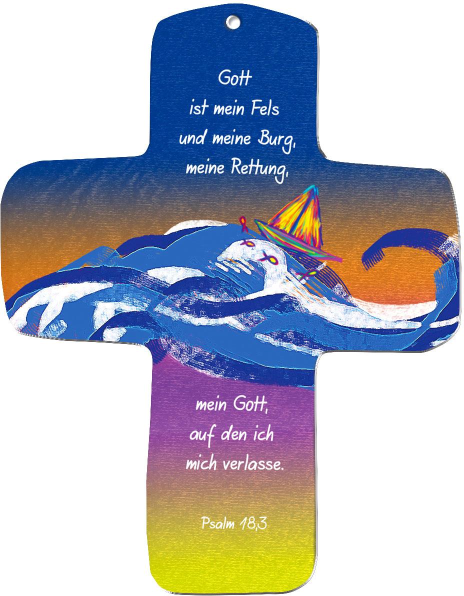 """metALUm Wandkreuze """"Schiff"""""""