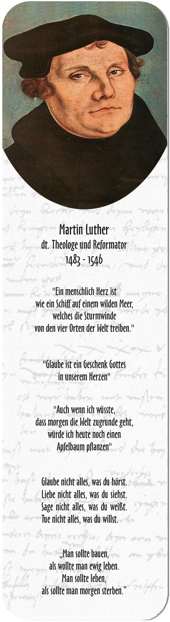 """Metall - Lesezeichen  """"Martin Luther"""""""