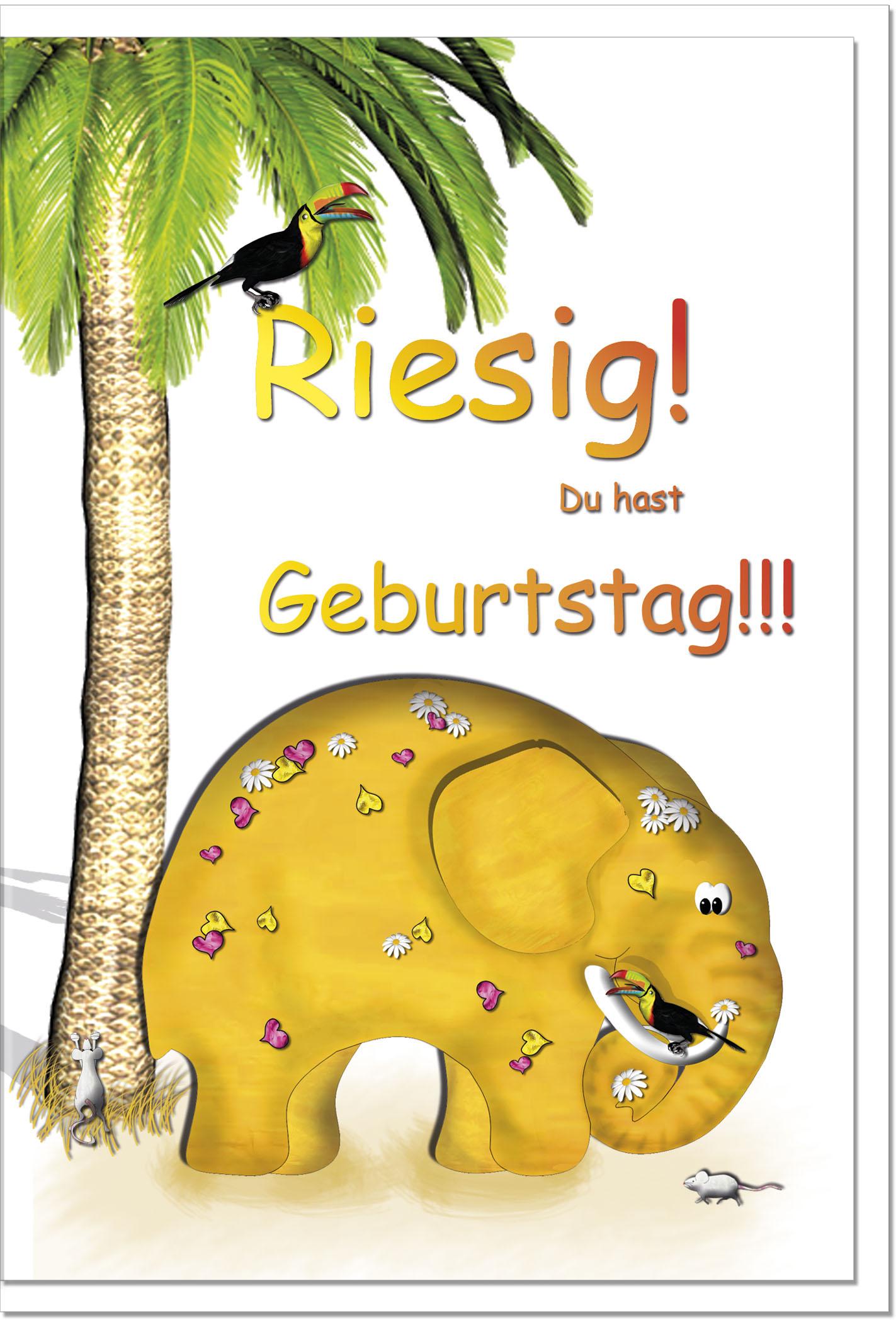 Geburtstagskarten / Grußkarten /Geburtstag Elefant - Geschenkideen ...