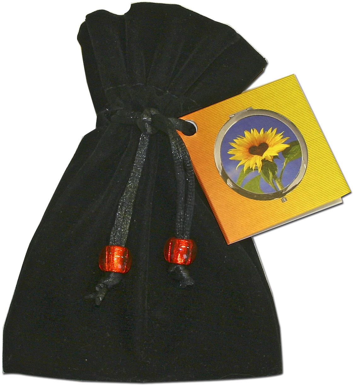 """metALUm Premium Taschenspiegel in runder Form """"Friedenstaube"""""""