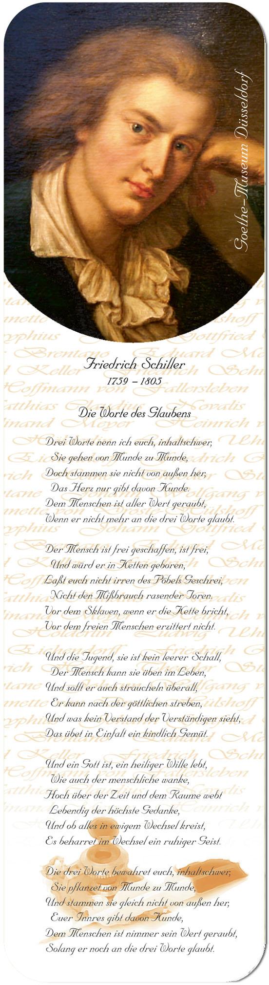 """Metall - Lesezeichen  """"Friedrich Schiller"""""""