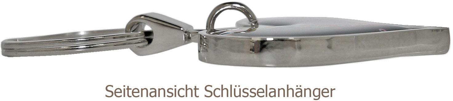 """metALUm Schlüsselanhänger in Kreuz - Form """"Mohnfeld"""""""