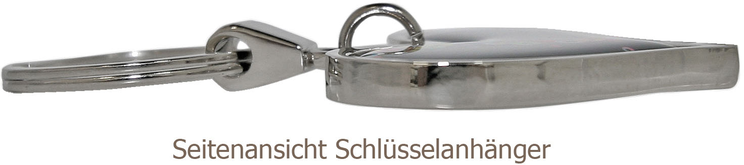"metALUm Schlüsselanhänger in runder Form ""Weg"""