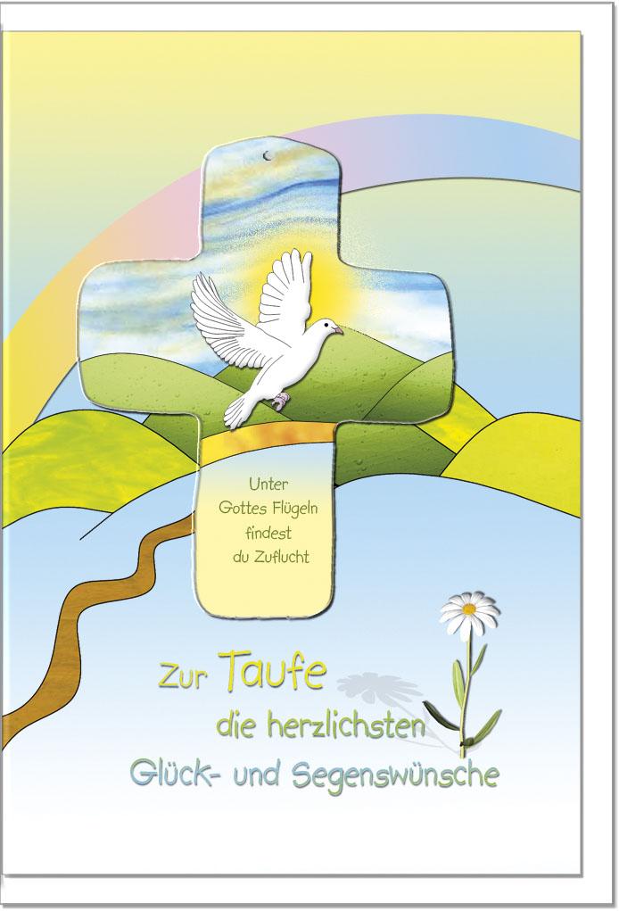 Taufkarten / Grußkarten /Taufe Taube