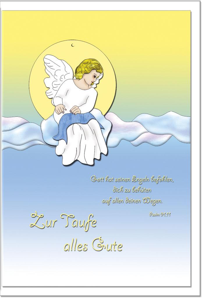 Taufkarten / Grußkarten /Taufe Engel