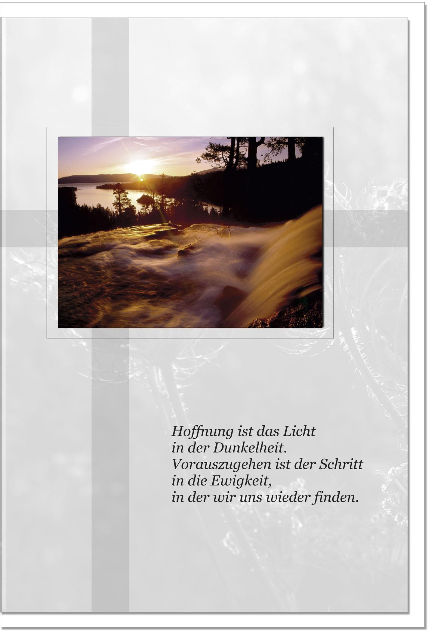 Trauerkarte Beileidskarte / Wasserfall