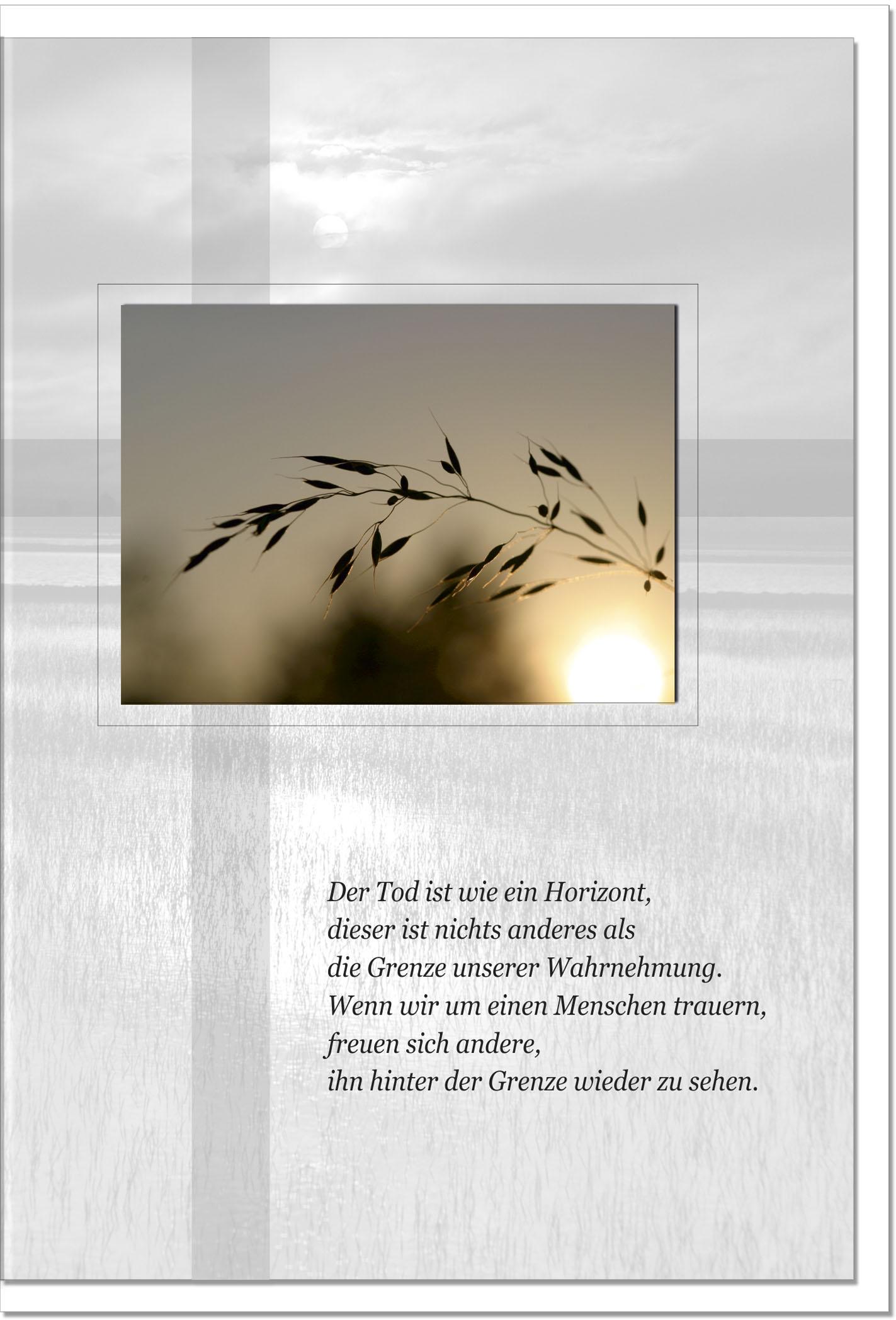 Trauerkarte Beileidskarte / Gerste