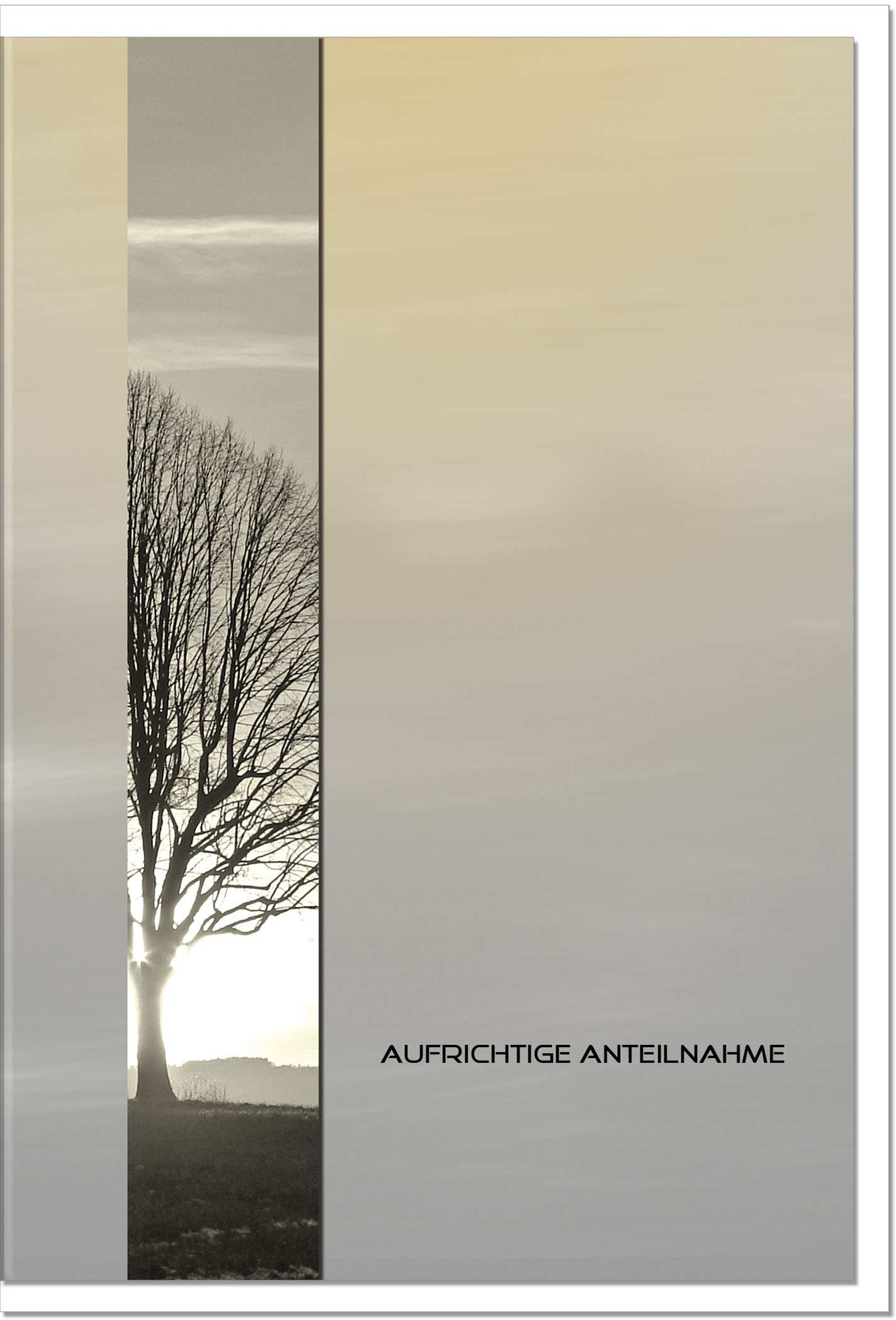 Trauerkarte Beileidskarte / Baum