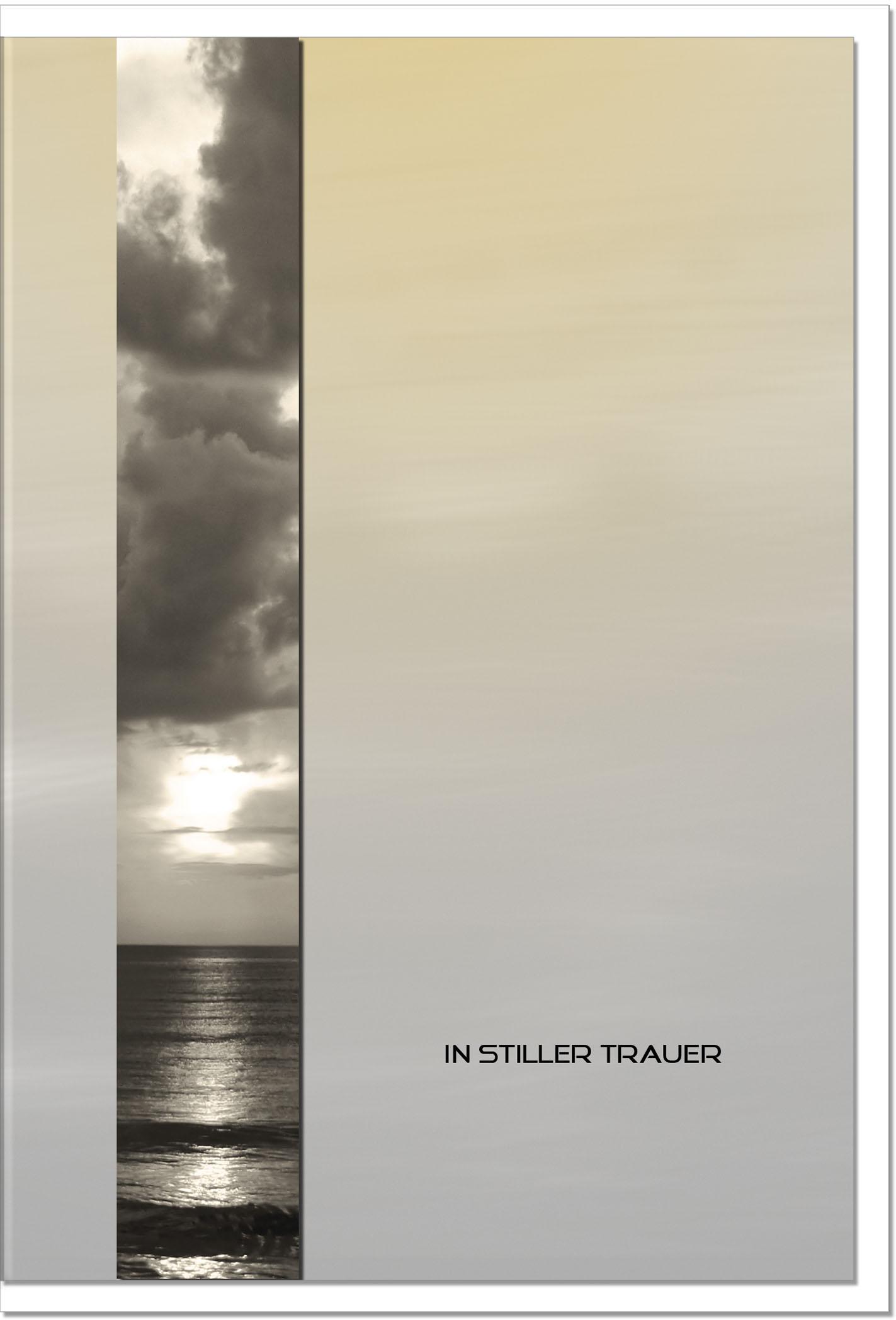 Trauerkarte Beileidskarte / See