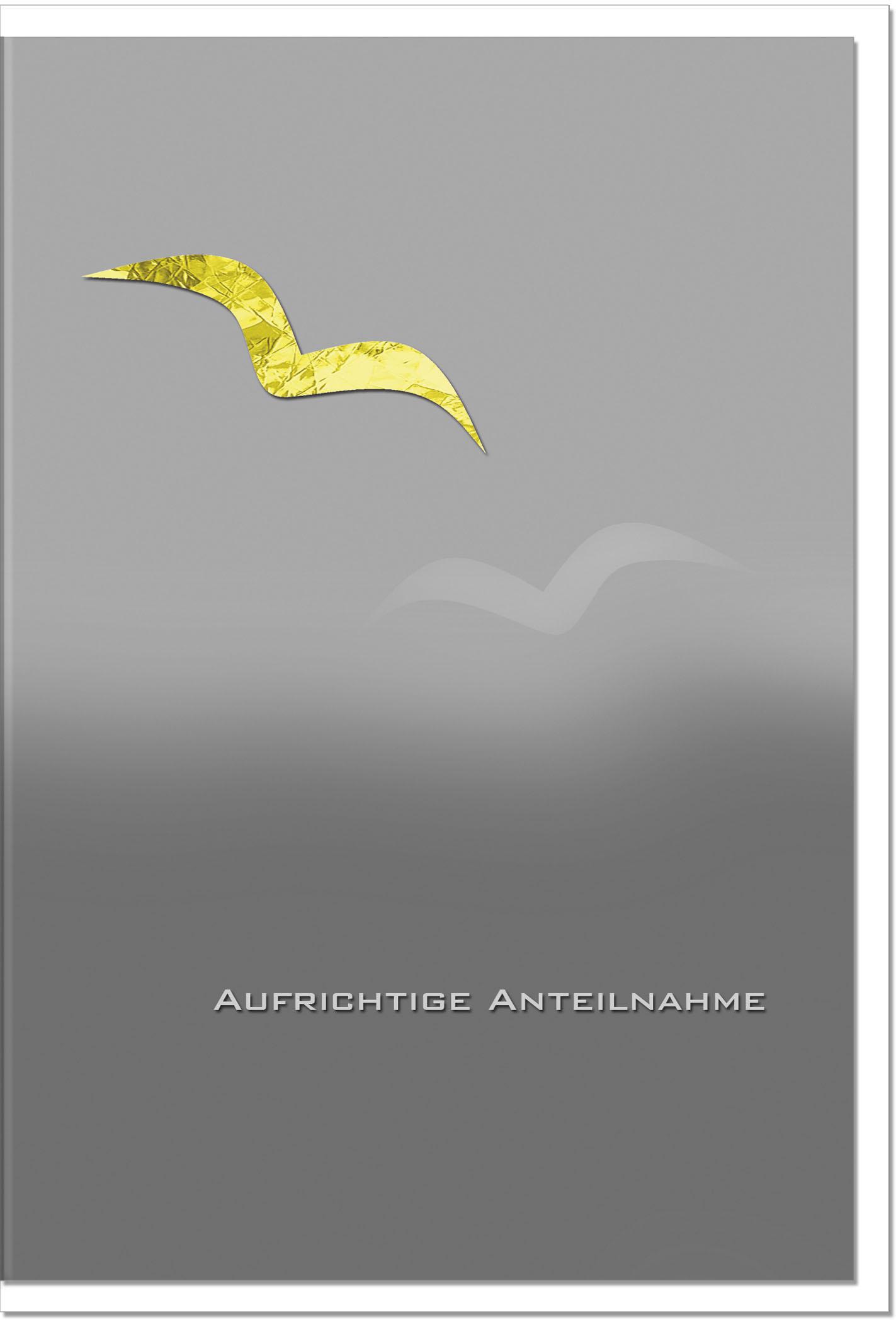 Trauerkarte Beileidskarte / Möwe