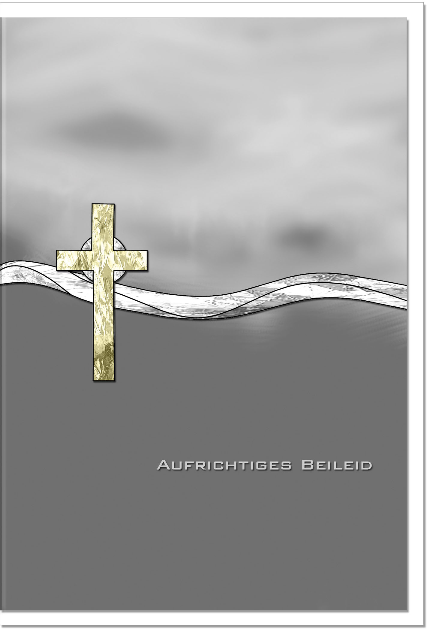 Trauerkarte Beileidskarte / Kreuz