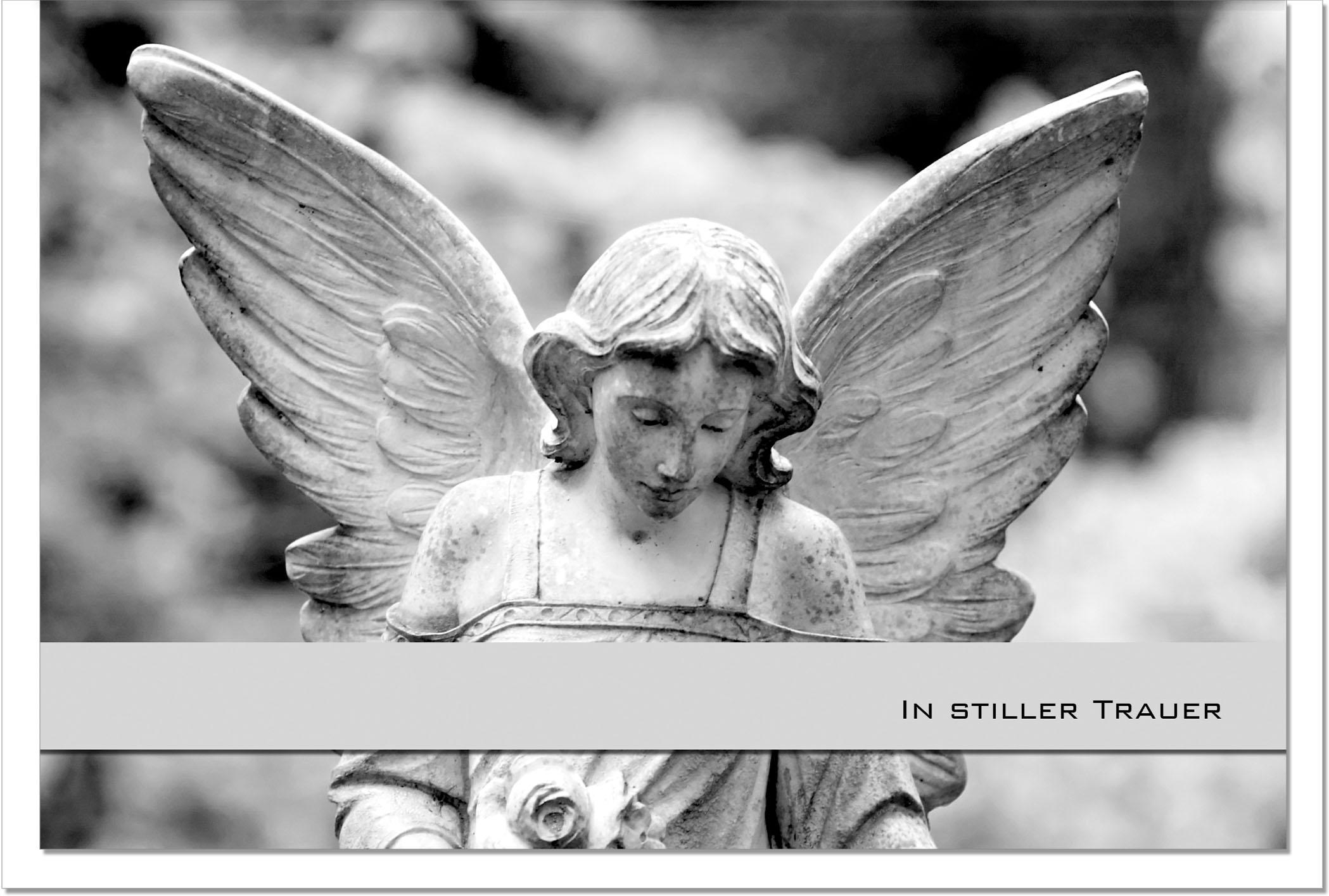 Trauerkarte Beileidskarte / Engel