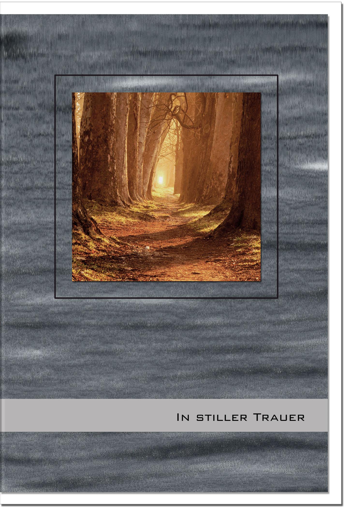 Trauerkarte Beileidskarte / Waldweg