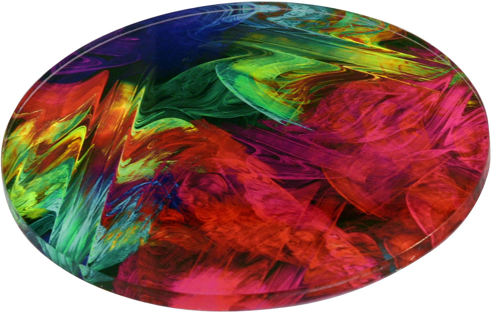 "metALUm - Premium Untersetzer - 4er Set in runder Form ""Fraktal Muster"""