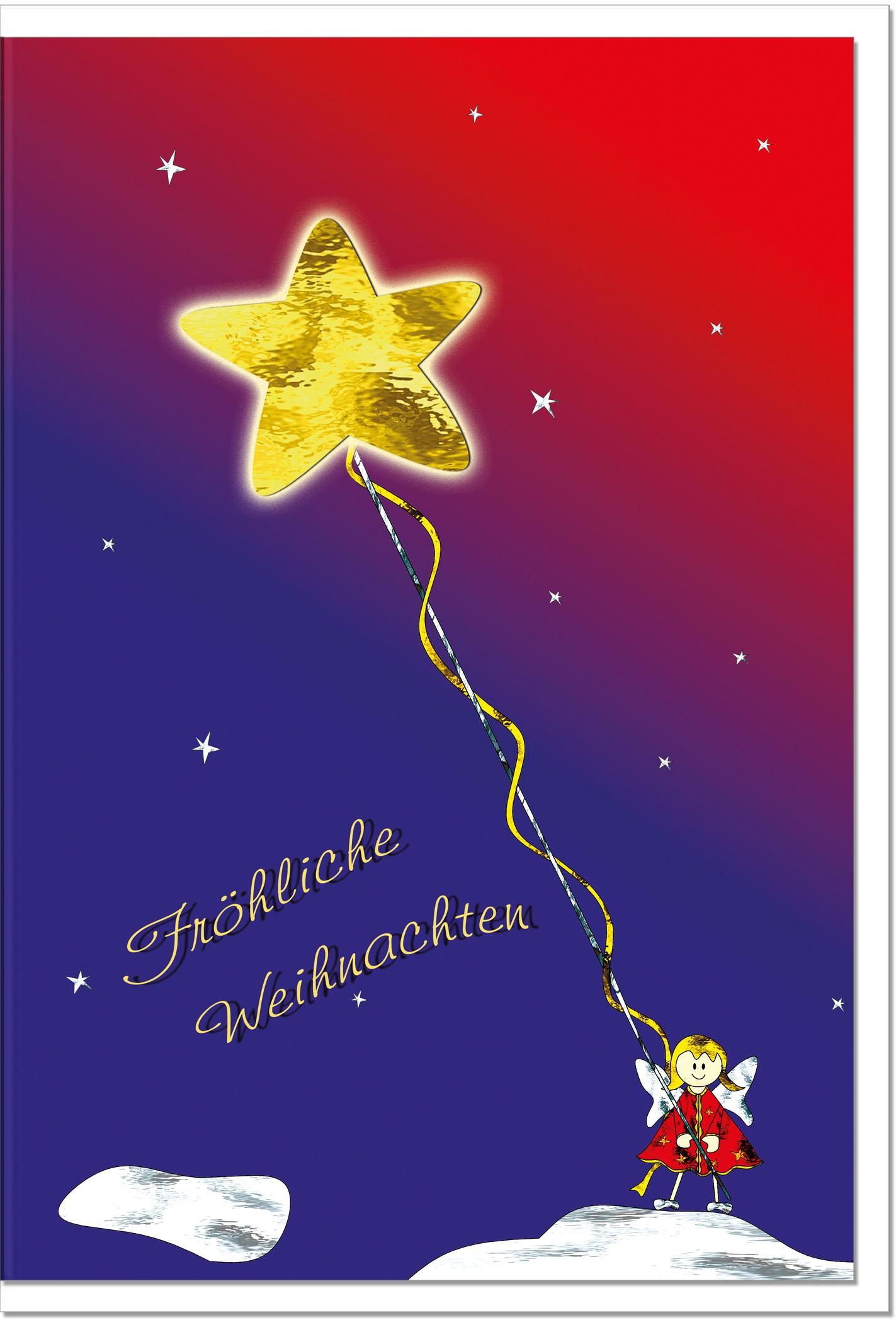 Weihnachtskarten / Grußkarten /Weihnachten Stern