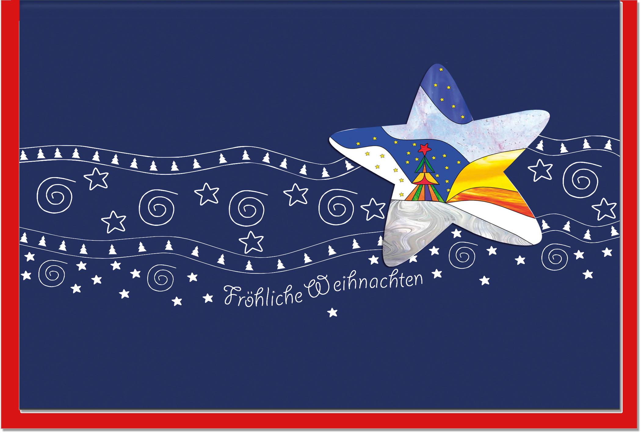 Bilder Weihnachtskarten.Weihnachtskarten Grußkarten Weihnachten Stern