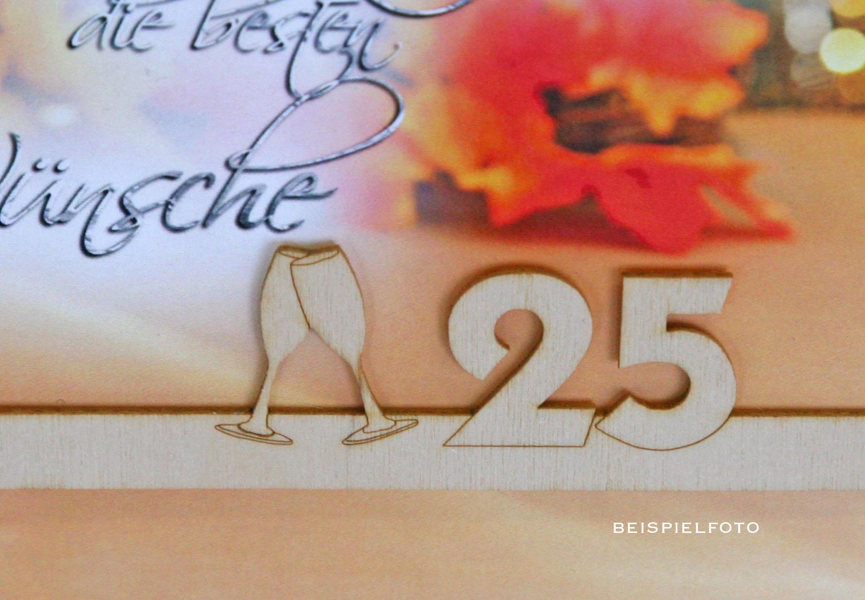 Goldene Hochzeit / Grußkarten /Goldhochzeit Holz