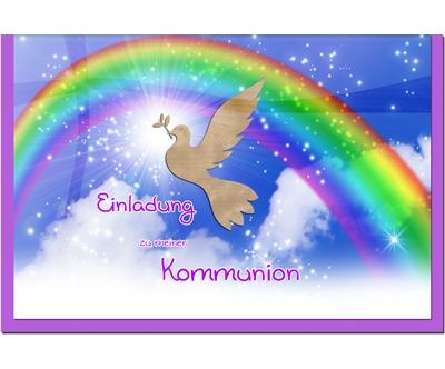 MetALUm Einladungskarten zur Kommunion (25 er Set)  Regenbogen    Erste Klasse in seiner Klasse    Nutzen Sie Materialien voll aus