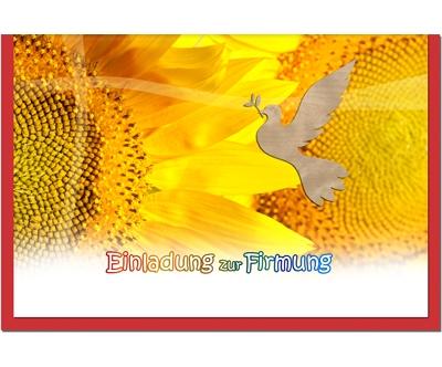 MetALUm Einladungskarten Einladungskarten Einladungskarten zur Firmung (25 er Set)  SonnenBlaume    Stilvoll und lustig    Gemäßigten Kosten  b66bf7