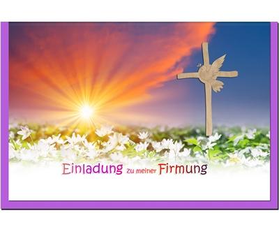 MetALUm Einladungskarten zur Firmung (25 er Set)  Sonnenuntergang    Garantiere Qualität und Quantität    Starke Hitze- und Abnutzungsbeständigkeit