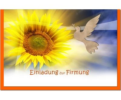 MetALUm Einladungskarten zur Firmung (25 er Set)  SonnenBlaume  | Hohe Qualität und geringer Aufwand  | Billig ideal