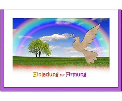 MetALUm Einladungskarten zur Firmung (50 er Set)  Regenbogen  | Bestellungen Sind Willkommen  | Deutschland