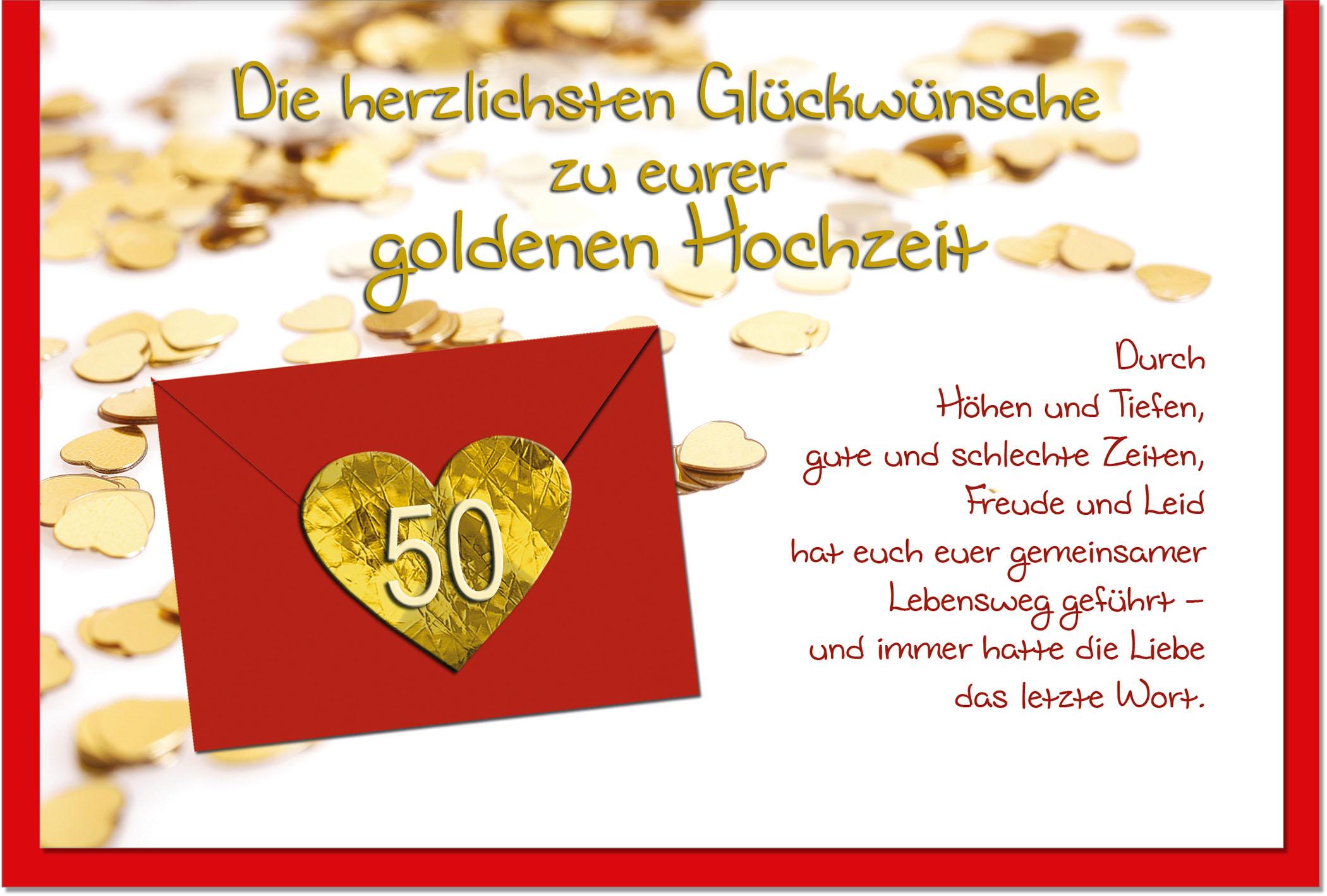Geschenk zur goldenen hochzeit karte